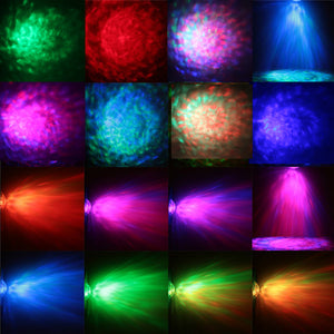 Water Ripples light RGB Laser Projector Lamp Wave Effect Stage Lamps DJ Disco Stage Light For Home Party Bar disco Entertainment - Kesheng special effect equipment