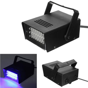3W 24 LED Blue Stage Lighting AC220V Stage Lights Operated DJ Strobe Lights Disco Party Club KTV Stroboscope US/EU Plug - Kesheng special effect equipment