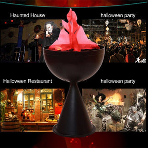 Electronic Artificial Simulated Flame Lamp Vertical Cylinder Brazier Lamp For Party Bar Soul House Halloween Decorative Lamp - Kesheng special effect equipment