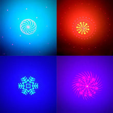 LED Stage Disco Light Double-hole Multi-picture Sound Activated LED Projector KTV Bar Light For Wedding Party Birthday Present C - Kesheng special effect equipment