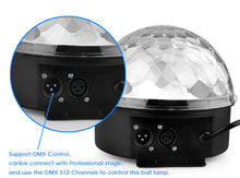 24W Sound Control Stage Light 8 Colors 110-220V 14+3 Modes LED Magic Crystal Ball Lamp DMX Disco Light Laser Wedding Party Lamp - Kesheng special effect equipment