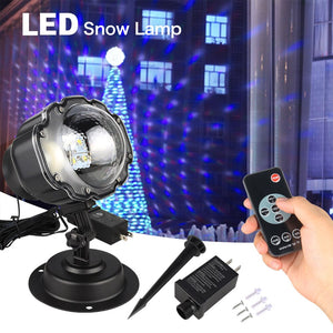 Snowfall LED Laser Projector RGBW Stage LED Light Landscape or hang on Wall lamp Outdoor Christmas Garden Wedding Lighting CA224 - Kesheng special effect equipment
