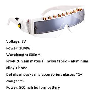 1PCS Stage Laser Glasses 10mw 635nm Red Laser Protection Glasses Stage DJ KTV Party glasses for Christmas Event & Party Supplies - Kesheng special effect equipment