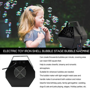 25W 1.2L Stage Bubble Machine Automatic Bubble Machine with High Output Remote Control for Wedding Party DJ Stage Effect - Kesheng special effect equipment