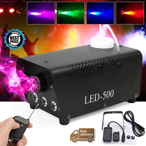500W Fog Smoke Machine Disco Light LED Remote Control Christmas DJ Party Stage Light Christmas Decoration RGB Smoke Projector - Kesheng special effect equipment