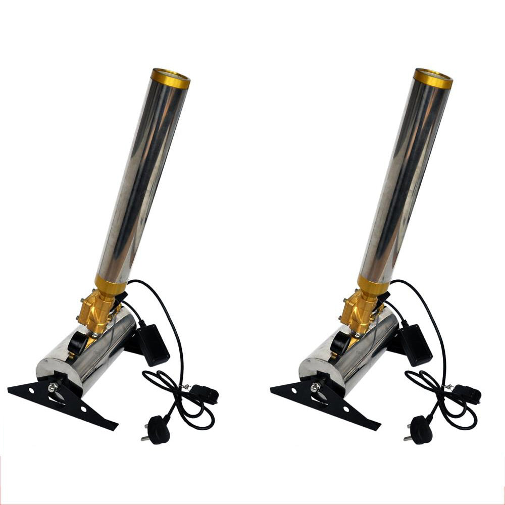 2pcs/lot Free Shipping streamer cannon machine with Remote Confetti Cannon 90-240V 150W Stage Confetti Machine for wedding party - Kesheng special effect equipment