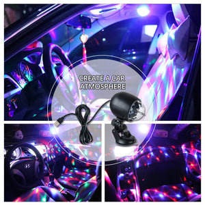 Portable Led Stage Lighting Effect Lamp USB Bracket Stage Lights Bulb Nightlight 2 in1 For DJ KTV Home Party Car Decor - Kesheng special effect equipment
