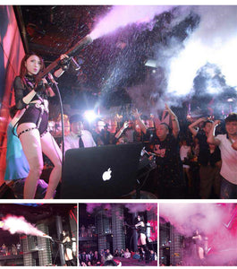 1pcs/lot Co2 Gun Led Stage Light CO2 Machine Jet Stage Effect Handhold Equipment RGB DJ Disco Light Club Bar Wedding Led Lights - Kesheng special effect equipment