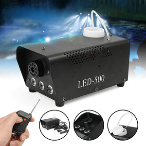 Wireless control LED 500W Fog Smoke Machine Remote RGB color Smoke ejector LED DJ Party Stage Light Smoke Thrower - Kesheng special effect equipment