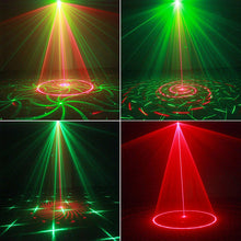 Mini R&G 24 Patterns Laser Projector lights Sound Activated Dance Disco Bar Family Party Holiday Xmas Stage Lighting Effect - Kesheng special effect equipment