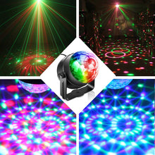 Mini LED RGB Magic Laser Stage Light Lamp Sound Control Adjust Crystal Ball for Christmas Disco Club Pub Home Party Projector - Kesheng special effect equipment