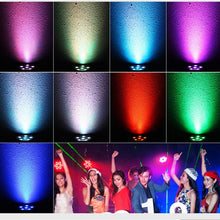 Mini Led Stage Light AC110-240V 9W Full RGBW Color Mixing 6LEDs Disco DJ Party Stage Lights with Remote Control - Kesheng special effect equipment