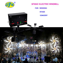 Freeshipping 2 X electric windmill Cold Fireworks Fountain Professional Stage Effect Machine Wedding Party Safety Sparkler CE ROHS - Kesheng special effect equipment