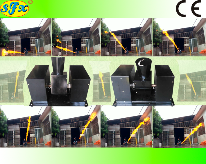 18MOV DMX control moving head 8meters height color flame projectors - Kesheng special effect equipment