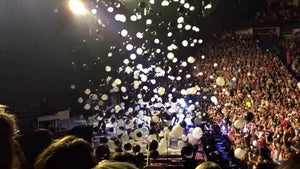 4B  Sky explode dropping and flying color balloons - Kesheng special effect equipment