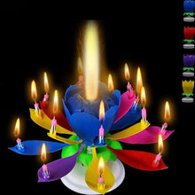 New 14 Candles Music Birthday Cake Candles Creative Lotus Flower Festival Decorative Music Party - Kesheng special effect equipment