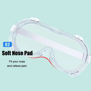 Protective Safety Goggles Wide Vision Indirect Vent Anti-Fog Medical Splash Goggles Protective Glasses - Kesheng special effect equipment
