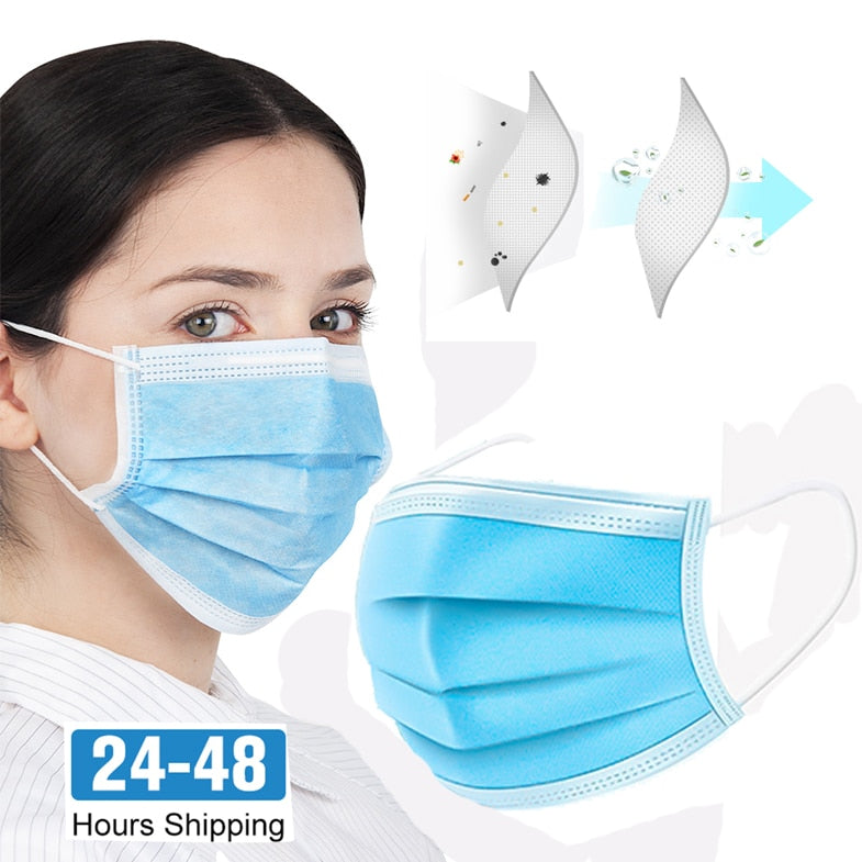 50PCS Pre Sale mouth mask pm2.5 Activated anti virus carbon prevent Anti virus formaldehyde Bacteria proof anti virus medical surgical face mouth mask N95 - Kesheng special effect equipment