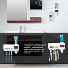 Uv Light Sterilizer Toothbrush Holder Antibacteria Disinfecting Punch Free Waterproof Toothpaste Dispenser Fast Delivery - Kesheng special effect equipment
