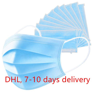 IN STOCK Children kid and adults 1 Bag 3 Layers Disposable Masks Salon Anti-Dust anti virus medical surgical  Face Mask with Ear Loop (send within 24 hours) - Kesheng special effect equipment