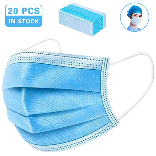 50 Pcs Anti-Dust Dustproof Disposable Masks Earloop anti virus medical surgical Face Mouth Masks Facial Protective Cover Masks 3 Layers - Kesheng special effect equipment