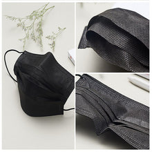 3 Layers Activated Bamboo Carbon Black Mask Mouth Prevent Anti-Dust Bacteria disposable anti virus medical surgical Mouth Face Mask Anti-dust Healthy Mask - Kesheng special effect equipment