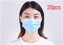 50pcs Non Woven Disposable Face Mask dental Earloop Activated Carbon Anti-Dust Face Surgical Masks - Kesheng special effect equipment