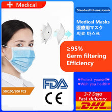 Fast delivery high quality 3-layer mask Face Mouth Masks Non Woven Disposable Anti-Dust Meltblown cloth Masks Earloops Masks - Kesheng special effect equipment