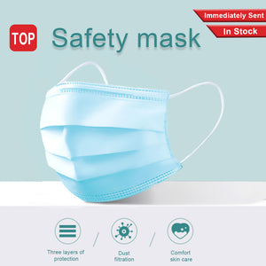 50PCS Disposable Protective Medical masks 3 Layers Dustproof Facial Protective Cover Masks Maldehyde Prevent bacteria Masks - Kesheng special effect equipment