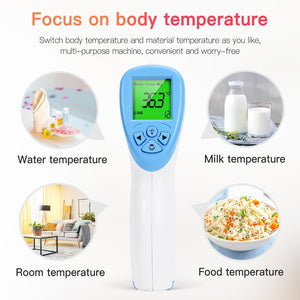 In Stock Digital Infrared Thermometer Non-contact Baby Adult Forehead Thermometer Gun LCD Backlight Termometro Infravermelh - Kesheng special effect equipment