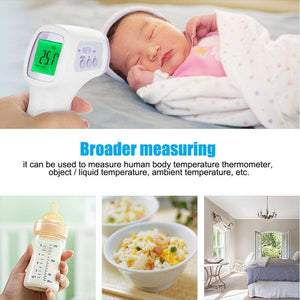 New LCD Digital Thermometer Non-contact IR Infrared Thermometer Forehead Body Temperature Meter Baby Adult Body Termometer Gun - Kesheng special effect equipment