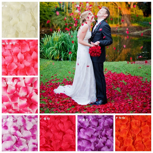 100PCS/Bag 5*5CM Silk Rose Petals for Wedding Decoration Romantic Artificial Rose Flower 40Colors Wedding Accessories - Kesheng special effect equipment