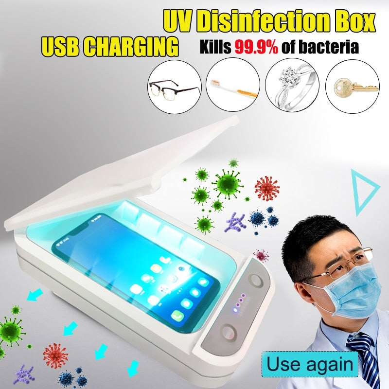 5V UV Light Phone Sterilizer Box Jewelry Phones Cleaner Personal Sanitizer Disinfection Cabinet with Aromatherapy Esterilizador - Kesheng special effect equipment