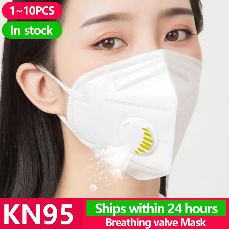 N 95 KN95 Face Masks Anti protection Mouth Cover Flu Facial Dust Filter dispenser Pm2.5 Gas Mask N95 Ffp2 Ffp3 Kf94 - Kesheng special effect equipment