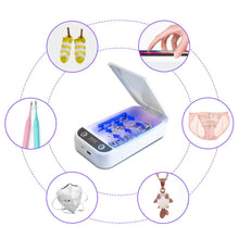 Portable UV Sterilizer Box Case Sanitizer Box Disinfection Machine Disinfector for Face Mouth Masks Phone Watches Glasses - Kesheng special effect equipment