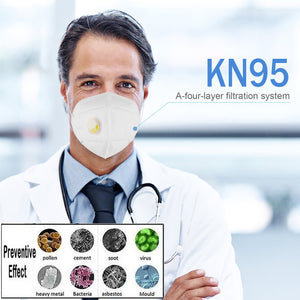 KN95 Valve Mask 5 Layer Anti Flu Infection 5/10 pcs N95 Protective Masks ffp2 Respirator PM2.5 Safety Same As KF94 FFP3 Reusable - Kesheng special effect equipment