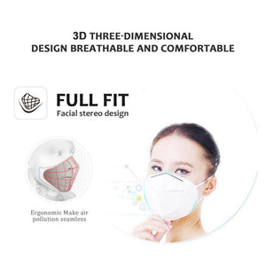 KN95 Dustproof Anti-fog And Breathable Face Masks 95% Filtration N95 Masks Features as KF94 FFP2 - Kesheng special effect equipment
