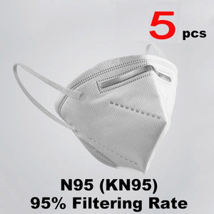 N95 Masque 6 Layers Mask Bacteria proof Anti Infection Mask Particulate Mouth Respirator Anti PM2.5 Safety Protective Mask - Kesheng special effect equipment