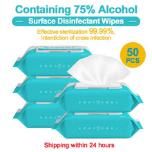 50pcs/box Disinfection Wipes Pads Alcohol Swabs Wet Wipes Skin Cleaning Care Sterilization First Aid Cleaning Tissue Box - Kesheng special effect equipment