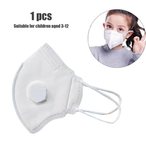 KN95 Kids 4 Layers Face Mask PM2.5 Anti Haze Dust Masks with Breath Valve Anti-dust Respirator Mouth Mask for Kids Children - Kesheng special effect equipment