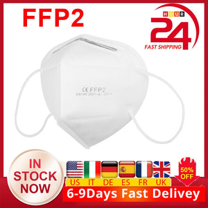 stock 20-100Pcs FFP2 Face Masks Dustproof Anti-fog 95% Filtration Mouth Cover Dustproof Face Cover Features as KN95 N95 KF94 - Kesheng special effect equipment