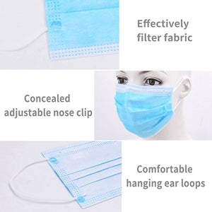 Kids Men Women Mask Disposable mask 3-Layer Non-woven Disposable Soft Breathable Flu Hygiene Face Mask Features as KF94 FF2 - Kesheng special effect equipment