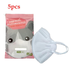 5/10pcs Kids KN95 Mask Child Safety 4 Layer Protective Mask Anti Dust PM2.5 Masks N95 Respirator Filter Valve Child Face Mask - Kesheng special effect equipment