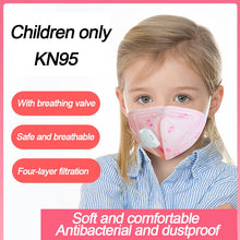 Four-layer KN95 Child Kids Face Mask With Valve Disposable Respirator n95 Elastic Mouth Soft Breathable Soft Breathable Anti Flu - Kesheng special effect equipment