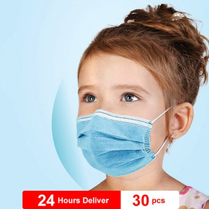 Anti-Pollution 3 Layer Mask Dust Protection Masks Disposable Mask For Kids Elastic Ear Loop Filter Safety Mask - Kesheng special effect equipment