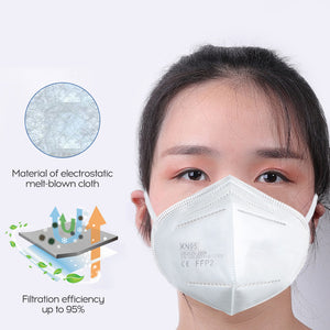 Disposable FFP2 Mask 95% Filter Protective Face Mask Dustproof 5-Layer Non-woven Fabric Breathable Mouth Mask Respirator ffp2 - Kesheng special effect equipment