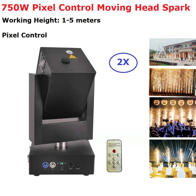 Pixel Control 2Pcs/Lot 750W DMX Control Cold Spark Fireworks Sparklers Machine Out/Indoor Wedding Celebration Party Moving Head - Kesheng special effect equipment