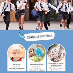 20pcs/lot Children Disposable Latex Gloves Nitrile Gloves Protective Gloves Home Food Cosmetic Disposable Glove for Left Right - Kesheng special effect equipment