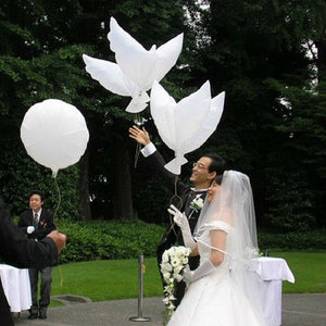 1pcs Flying White Dove Balloons Wedding Globos Balao Dove Balloons Peace Bird Ball Pigeons Peace Dove Foil Balloons - Kesheng special effect equipment