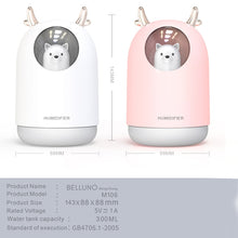 Anti virus Disinfection Sterilize Home Appliances USB Humidifier 300ml Cute Pet Ultrasonic Cool Mist Aroma Air Oil Diffuser Romantic Color LED Lamp Humidificador - Kesheng special effect equipment